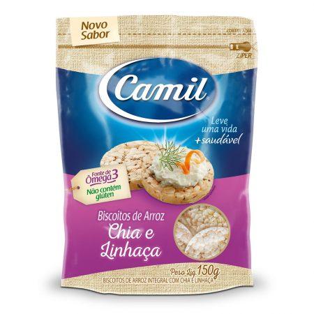 CAMIL COM CHIA E LINHACA MINI BISCOITO DE ARROZ 150GR