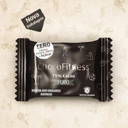 CHOCOFITNESS 75% DE CACAU PURO 5G DP 50 UNID