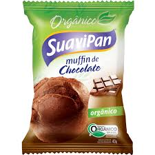 MUFFIN ORGÂNICO DE CHOCOLATE 40GR DISPLAY 12 UN